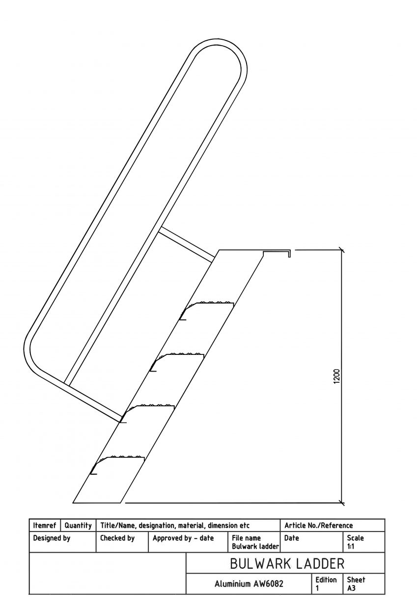 Products4Ships Bulwark ladder