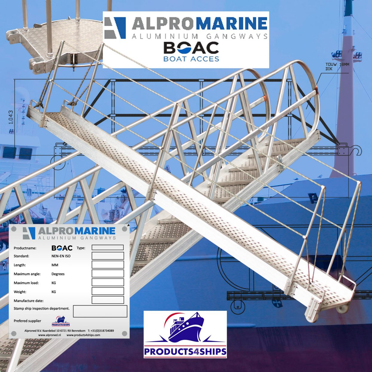 Products4Ships aluminium loopplanken gangways