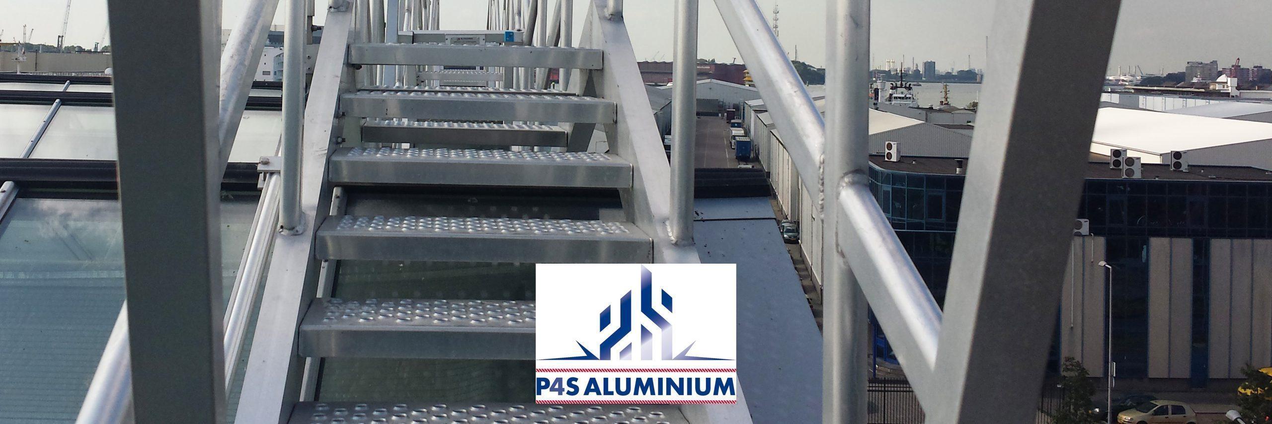 P4S Aluminium glazenwasinstallatie dak
